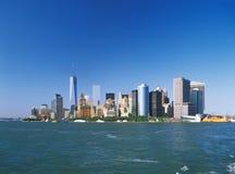 Manhattan på en solig dag Arkivfoto