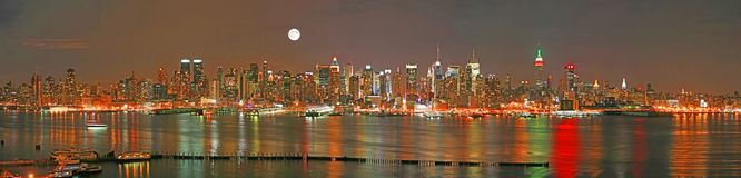 Manhattan panaroma skyline Stock Photo