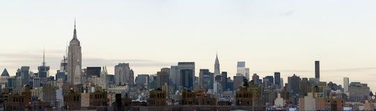 Manhattan panorámica fotos de archivo
