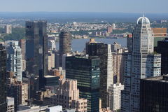 Manhattan panorama Stock Images
