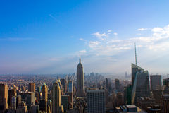 Manhattan Panorama. From top of rock Royalty Free Stock Images