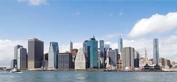 Manhattan panorama Royaltyfria Bilder