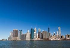 Manhattan panorama Royaltyfri Fotografi