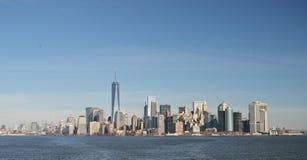 Manhattan panorama Royaltyfria Bilder