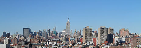 Manhattan panorama Stock Images