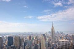 manhattan panorama- horisont Royaltyfri Fotografi