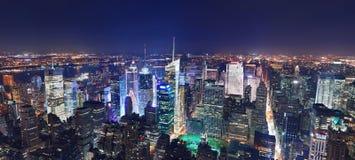 Manhattan panorama at night Royalty Free Stock Image