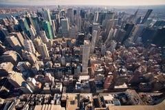 Manhattan-Panorama in NYC Stockfotos