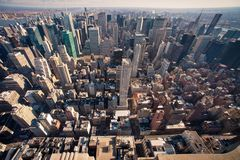 Manhattan panorama in NYC. New York cityscape viewed from top of Empire State Building Stock Photos