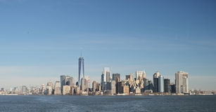 Manhattan panorama. Panoramic view of Manhattan at sunny day Royalty Free Stock Images