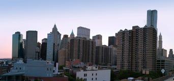 Manhattan panorama at  twilight Royalty Free Stock Photography