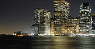 Manhattan Panoramic View. Panoramic view of Manhattan from Brooklyn Royalty Free Stock Photos