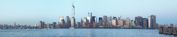 Manhattan panoramic view. Dowtown Manhattan panoramic view at afternoon royalty free stock photo