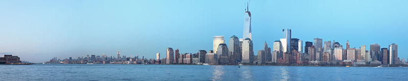 Manhattan panoramic view. Dowtown Manhattan panoramic view at afternoon royalty free stock photos