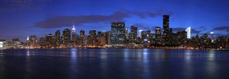 Manhattan panoramique Images libres de droits