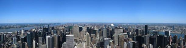 Manhattan panoramisch Stockbilder
