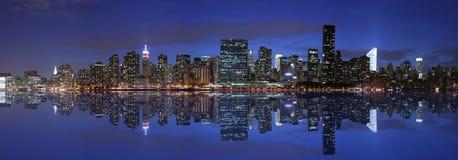 Manhattan panorámica Imágenes de archivo libres de regalías