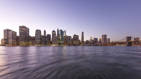 Manhattan pendant le coucher du soleil banque de vidéos