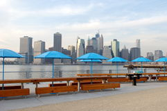 Manhattan from Pier 5 Stock Image