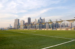 Manhattan from Pier 5 Stock Photography