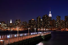 Manhattan with pier in foreground Royalty Free Stock Image