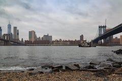 Manhattan plaża od otoczak plaży Obraz Stock