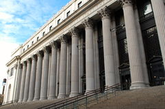 Manhattan Post Office. The famous columns of the James A. Farley post office building in Manhattan on Eighth Avenue, between 31st and 33rd Streets Royalty Free Stock Images