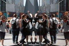 Manhattan reflections street scene Stock Image