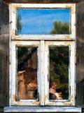 manhattan reflexionsfönster Fotografering för Bildbyråer