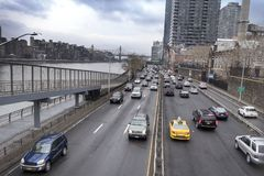 NYC east side highway stock image