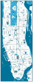 Manhattan road map Stock Photo