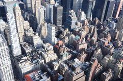 Manhattan Roof Tops. A Veiw of Manhattan From the Empire State Building Stock Images
