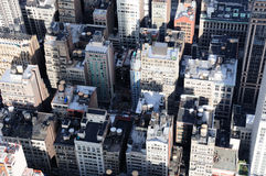 Manhattan Roof Tops. A Veiw of Manhattan From the Empire State Building Royalty Free Stock Image