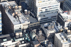 Manhattan Roof Tops Royalty Free Stock Photography