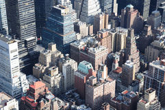 Manhattan Roof Tops. A Veiw of Manhattan From the Empire State Building Stock Photography