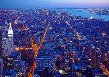Manhattan-Süddämmerung Lizenzfreies Stockbild
