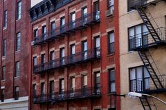 Manhattan's apartments Stock Photos