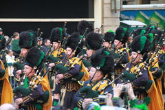 Manhattan's St Patrick parade royalty free stock images