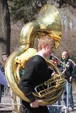 Manhattan's St Patrick parade royalty free stock photo