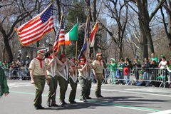 Manhattan's St Patrick parade Stock Image
