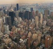 Manhattan-Schauen Nordost Stockfotos