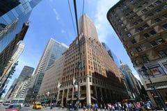 Manhattan-Schnitt und -wolkenkratzer Stockbild