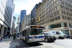 Manhattan-Schnitt und -wolkenkratzer Lizenzfreies Stockfoto