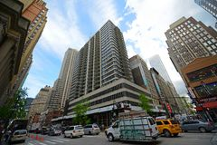 Manhattan-Schnitt und Wolkenkratzer, New York City Stockfotografie