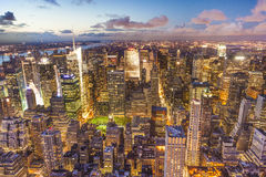 Manhattan seen from the Empire State Building at night Royalty Free Stock Image