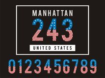 Manhattan Set Number Texture Flag American Royalty Free Stock Photo