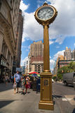 Manhattan Sidewalk Clock Royalty Free Stock Images