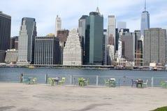 Manhattan sikt Arkivfoto