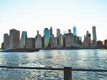 Manhattan sikt Royaltyfri Fotografi