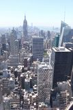 Manhattan sikt från överkanten av vagga - New York Arkivfoto